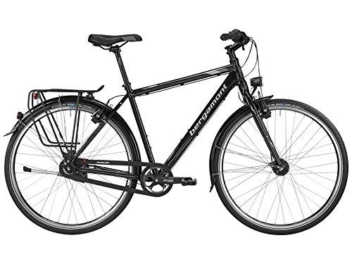 Bergamont Vitess N8 Herren Trekking Fahrrad schwarz/grau/silber 2016: Größe: 48cm (164-170cm)