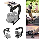 Fantaseal 4in1 DSLR/Mirrorless/Action Camera +Camcorder +Smartphone Stabilizer Holder We-Media YouTube Vlog Low Position Video Rig Mount Fit for GoPro Sony DJI OSMO Action Nikon Canon iPhone Samsung