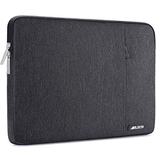 MOSISO Laptop Sleeve Bag Compatible with 13-13.3 inch MacBook Pro, MacBook Air, Notebook Computer, Polyester Vertical Case Cover with Pocket, Space Gray