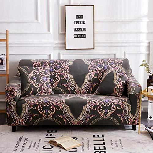Funda de Fofá Elástica,Funda de sofá con patrón impreso, funda de sofá elástica antideslizante, cojín de sofá universal para todas las estaciones, funda protectora de muebles de sala de estar-Color 1