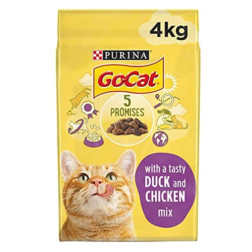 Go-Cat Adult Dry Cat Food Chicken & Duck 4kg (Case of 2)