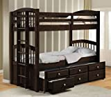 Micah Espresso Finish Twin/Twin Bunk Bed w/Trundle Set