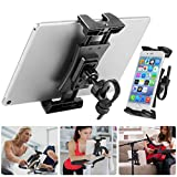 Bike Tablet Holder, Portable Bicycle Car Phone Tablet Mount for Indoor Gym Treadmill, Microphone...