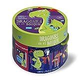 Dragones Del Bosque. Cajas Redondas. Con puzzle Edic. ilustrado (Español)