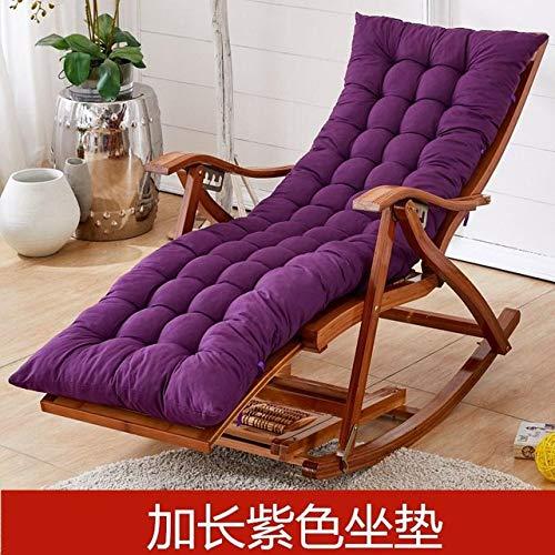 Stoel LKU Bamboe schommelstoel balkon schommelstoel fauteuil volwassen lunchpauze lunchpauze lui vrije tijd hout, stijl 5