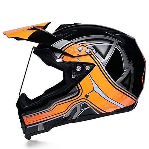Casco Integral de Motocross para Hombre, Cascos integrales Unisex, Cascos de Moto, Gorras de Seguridad, Sombrero para Todas Las Estaciones, Todoterreno