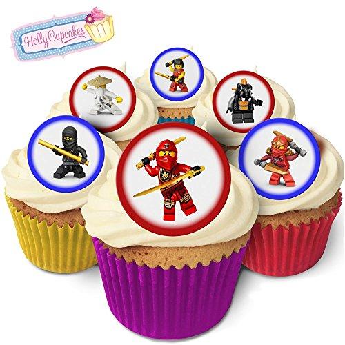 24 Fabulous Edible Wafer Cake Toppers: Ninjago