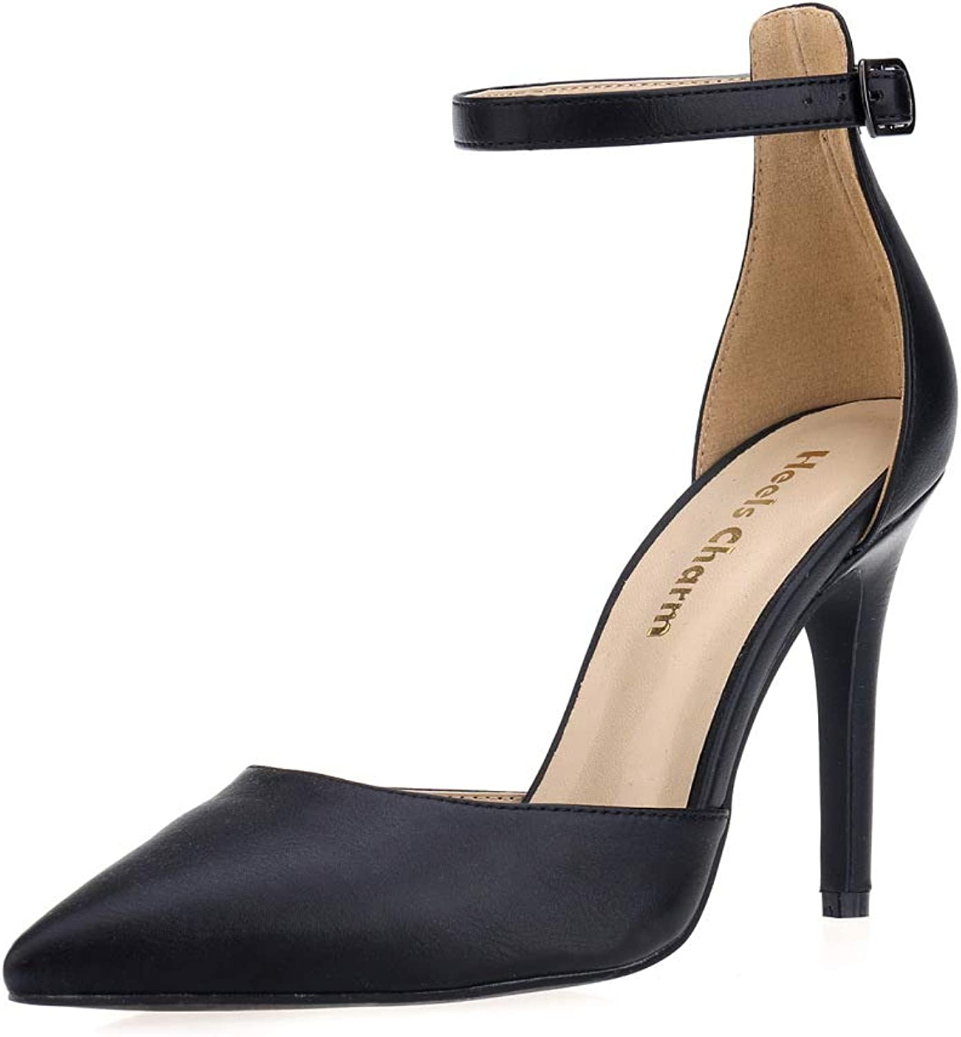 Women's Lace Up Heel Pumps Stilettos Pointed Toe High Heel Strappy Heels Dress shoes