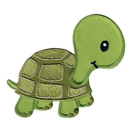 PatchMommy Schildkröte Patch Aufnäher Applikation Bügelbild - zum Aufbügeln oder Aufnähen - für Kinder/Baby