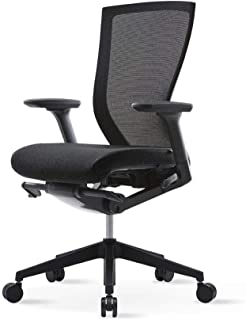 SIDIZ T50 AIR Home Office Multifunction Ergonomic Swivel Task Chair (T529DA): High Back, Mesh Back/Seat, 3-Way Adjustable Arms, Adjustable Seat Slide (Free Black Fabric Seat Cover Included)