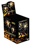 Nico 4er Set Symbol-Wunderkerzen Stern & Herz