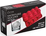 Ice Balls Snowflake Spheres : Snowflake Ice Ball Maker - Can Be Used for Snowball Cake Pops and Candy Molds - Heat Safe BPA Free Silicone Meets European Standards, Exceeding FDA (Christmas Red) (1)