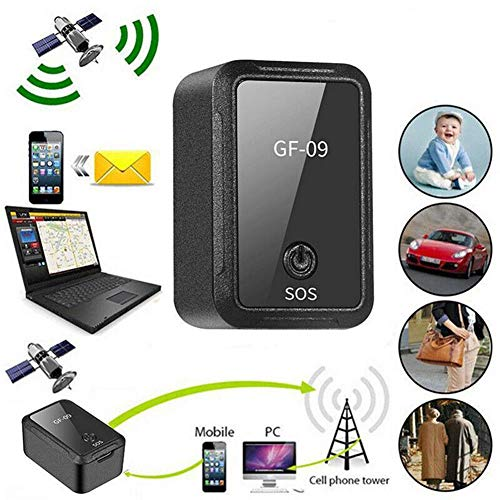 JSX Mini GPS Tracker, Car GPS Locator Tracker Anti-Lost Device Voice/APP Control Recording Tracking Device Car GPS Tracker