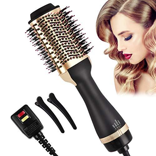 Hair Dryer Brush, Hair Dryer & Volumizer 4-in-1 Negative Ionic Hot Air Brush, Salon Electric Reduce Frizz Blow Dryer Brush for Women
