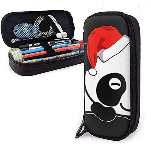 Vrolijk Kerstmis PU lederen tas opbergtas draagbare student pennenpapier tas multifunctionele tas UQ-903