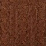Brown Wool Blend Cable Knit, Fabric by The Yard