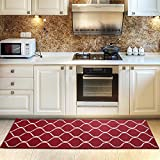 COSY HOMEER Kitchen Rug Non Slip Backing for Kitchen Floor Runner Rug with Water Absorbent...