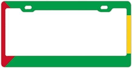 EXMENI Banderas de Camboya en Denim Marco de matrícula a Prueba de Robo Marcos de Placa de Acero Inoxidable