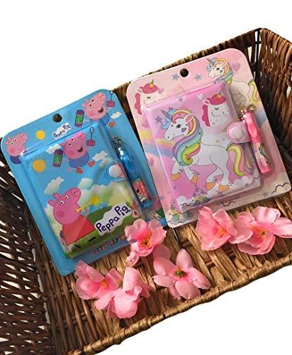 Le Delite ( Pack of 2 ) Lock Diary / Unicorn Lock Diary / Lock Diary for Girls/ Unicorn Diary for Girls / Button Diary /Diary for Girls/ Diary with Pen Combo Set for Girls/Boys Birthday Gift for Kids