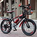 Longteng Bicicletas Infantiles Variable Speed Bike Balance De Bicicletas For Niños Y Niñas, De 20 Pulgadas, Al Aire Libre En Bicicleta, Frenos Dobles, 8-10 Años De Edad (Color : Rojo)