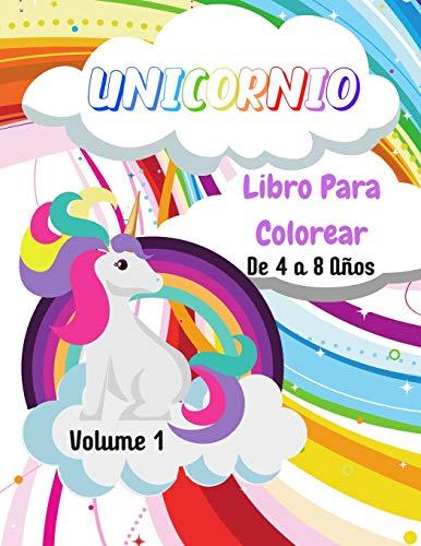 Unicornio Libro para colorear: Volumen 1 | De 4 a 8 años | 50 dibujos de unicornios | Gran formato, 21,6x28 cm