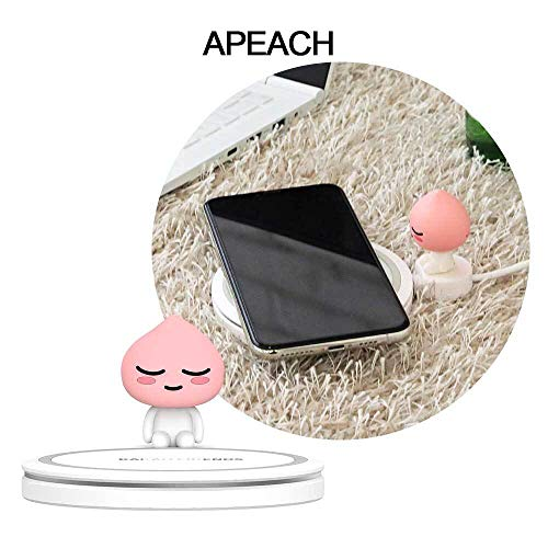 Wireless Charger, Boost Up 10W Max Qi Certified - Universial Wireless Charger Compatible with iPhone, Galaxy, LG, Sony and More 【Apeach】
