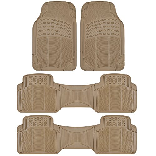 BDK Car SUV and Van Floor Rubber Mats - 3 Rows 4 Pieces, Heavy Duty All Weather...