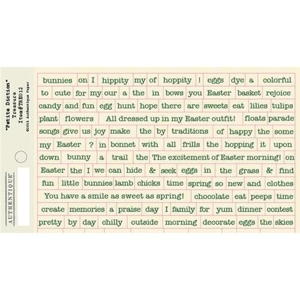 Authentique Paper Treasure Cardstock Stickers, 3 x 8-Inch, Petite Type Mini Alphabet