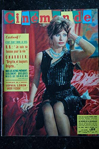 Cinémonde n° 1363 * 1960 * SOPHIA LOREN - Brigitte BARDOT - Jean Louis TRINTIGNANT