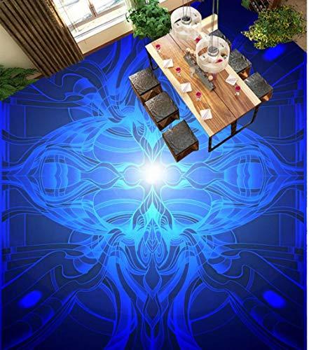 3D-wandfoto, blauw patroon, 3D-schilderij, bloemenschilderij, om zelf te maken 400 x 280 cm