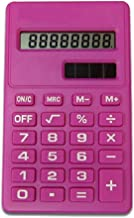 $23 » Handheld Candy Color Portable Mini Calculator 8 Digit Display Dual Power Solar Student Calculator Suit for Student Calcula...