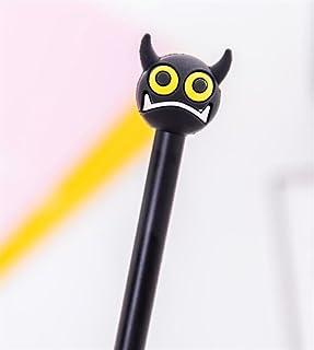 Royare of School Supplies 4Pcs/Set Demon Gel Pen Set Monster Signature Pen Student Stationery Prize (Yellow Eyes)