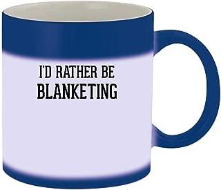 I'd Rather Be BLANKETING - 11oz Ceramic Blue Color Changing Mug, Blue