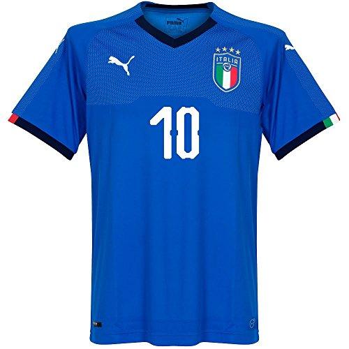 Italien Home Trikot 2018 2019 + Insigne 10 (Fan Style) - S