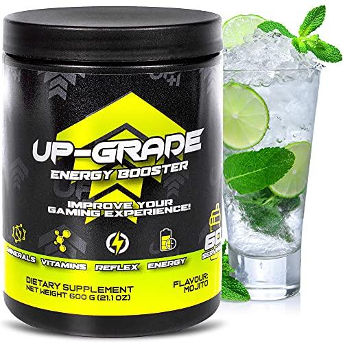 UP-GRADE – Energy Drink Pulver – Gaming Booster – Koffein Pulver voor meer Concentratie in e-Sport – 600 g 60 Servings…