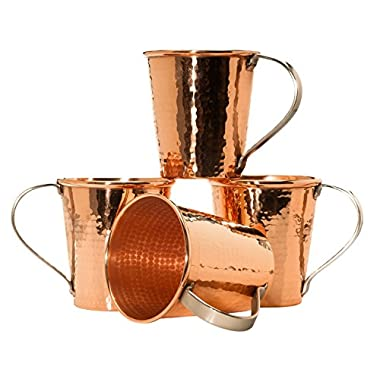 Sertodo Moscow Mule Mug set of 4, Hammered Copper, 20 fluid ounces