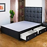 Hf4you Black <span class='highlight'>Divan</span> <span class='highlight'>Base</span> - 5Ft Kingsize - 2 Drawers - Foot End - No Headboard
