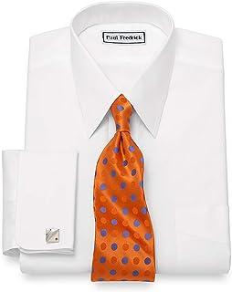 Men's Non-Iron 2-Ply Cotton Straight Collar Dress Shirt
