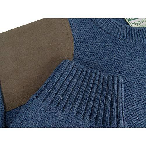 Hoggs of Fife Melrose Jagd Pullover Marled Marineblau - Blau, L