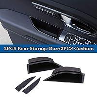 車の前部/後部ドア収納箱の肘掛けのハンドルグローブコンテナホルダーアクセサリーのためのランドローバーの範囲のローバーEvoque 2017 2017 2018 (Color : 2PCS Rear)