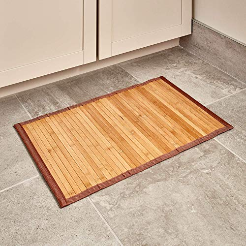 "InterDesign Bamboo Floor Mat – Ideal Mat for Kitchens, Bathrooms or Offices - 17"" x 24"", Natural"