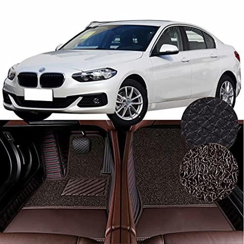 QCYP Alfombrillas para Coches Adecuado para BMW Serie 1 Facelift 118i (función de teléfono/neumático: 205/55 R16 / Control Manual del Aire Acondicionado) 2018 Alfombrillas de Auto,LHD