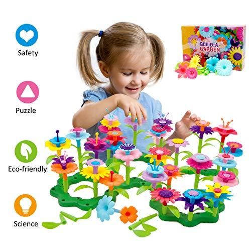 Image of the Byserten Gifts for 3-6 Year Old Girls Flower Garden Building Set 98 PCS Arts and Crafts for Girls 11 Colors Birthday Gifts Christmas