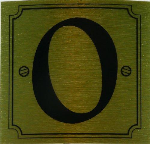 eCobbler Stick le numéro de porte 0–Avec fond doré