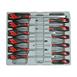 Teng Tools 12 Piece Screwdriver Set (Flat, PH, PZ) - MD912N