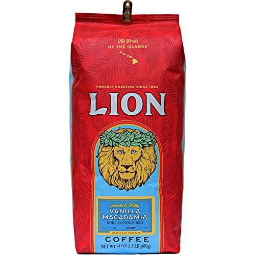 ライオンコーヒー バニラマカダミア 24oz 680g 豆