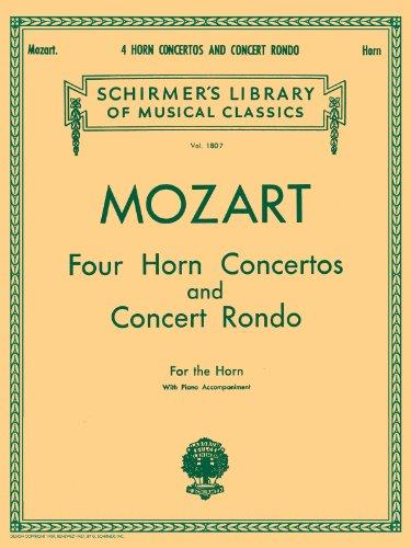 W.A. Mozart: Four Horn Concertos And Concert Rondo (Horn/Piano)