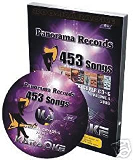 Panorama 2006 Monthly Super CDG Karaoke Hits 453 Songs for CAVS or PC