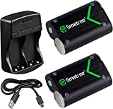 Smatree Xbox One Controller Battery Pack, Rechargeable NI-MH Battery 2000mAH (2-Pack) and Dual-Channel Charger...