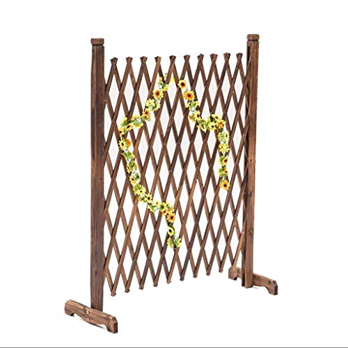Fence Fence Wooden Guardrail Outdoor Garden Fence Pet Fence Grid Expandable (Size : 90 * 150cm)